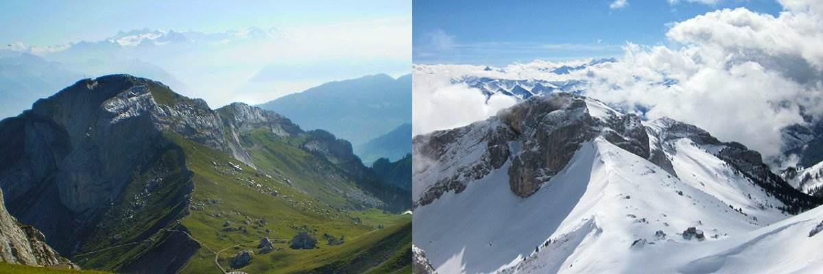 Mount Pilatus: Summer vs Winter