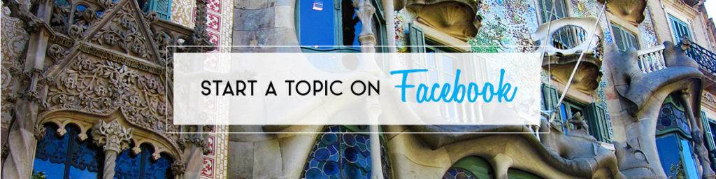 Start a Topic on Facebook | The Invisible Tourist