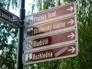Direction sign in Prague, Czech Republic | The Invisible Tourist