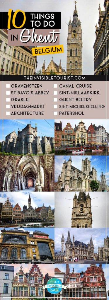 10 Things to do in Ghent: The Gem of Belgium | Checklist | The Invisible Tourist