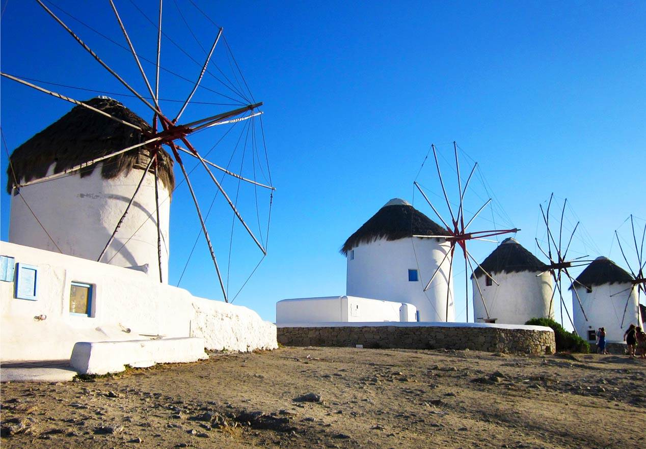 Image result for mykonos windmill