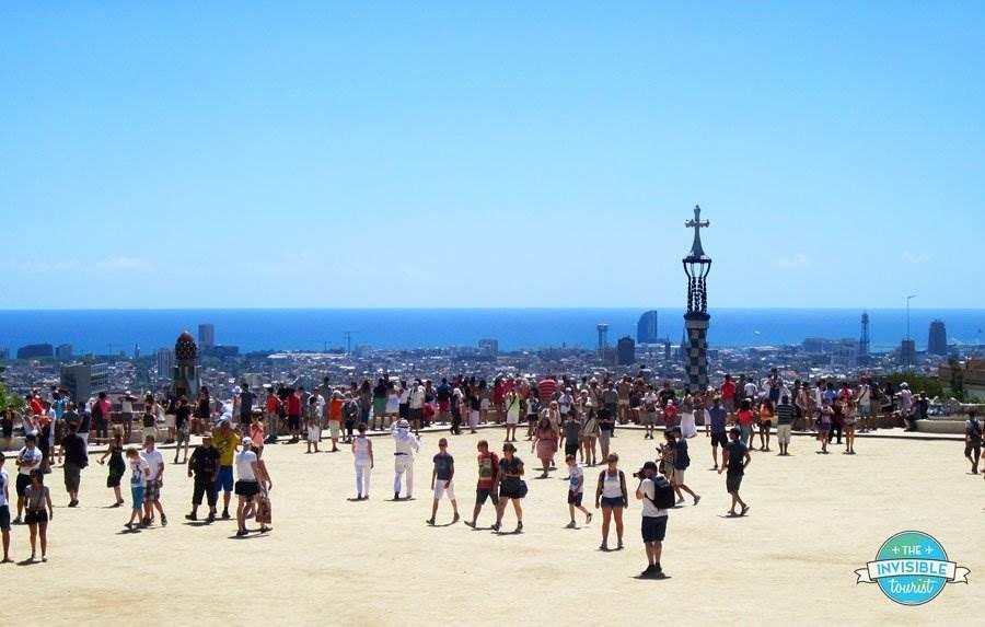 Tourists at Park Güell, Barcelona