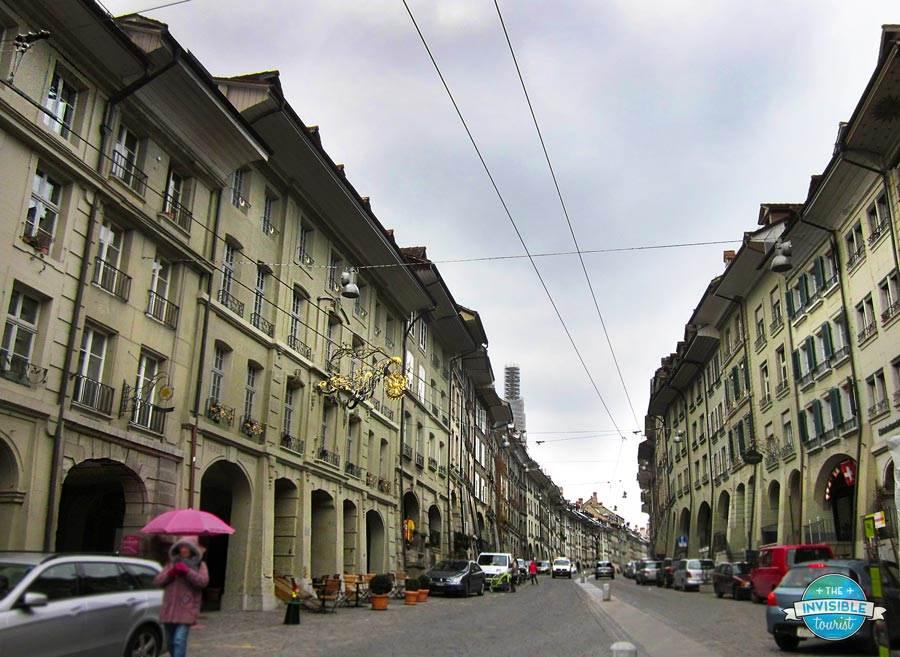 Arcades beneath the buildings in Bern