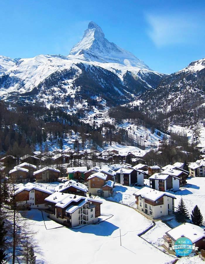 Matterhorn towering above Zermatt