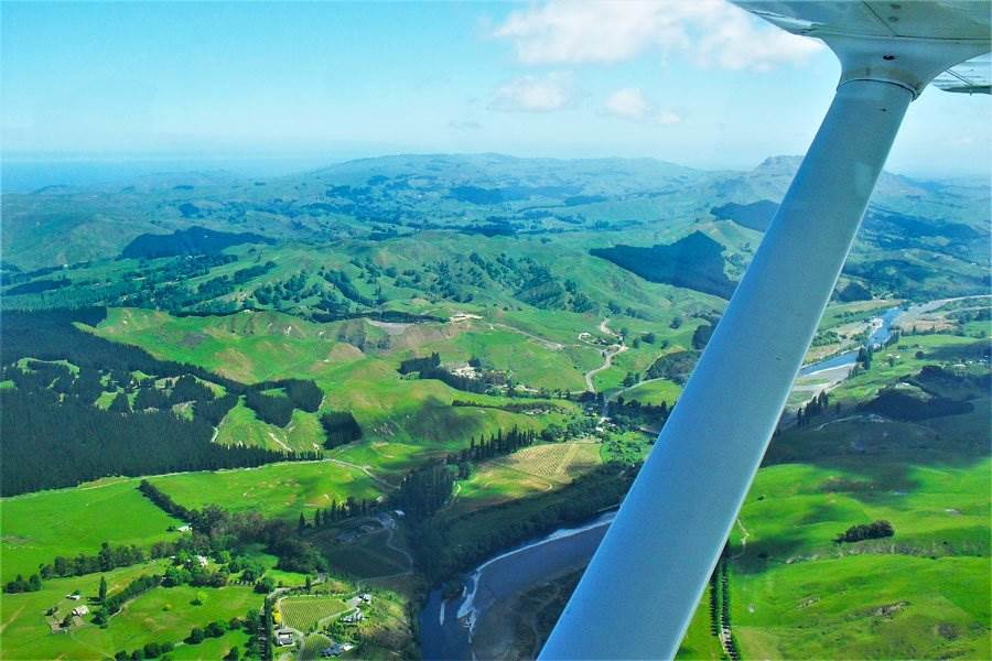 Hawkes Bay region from above