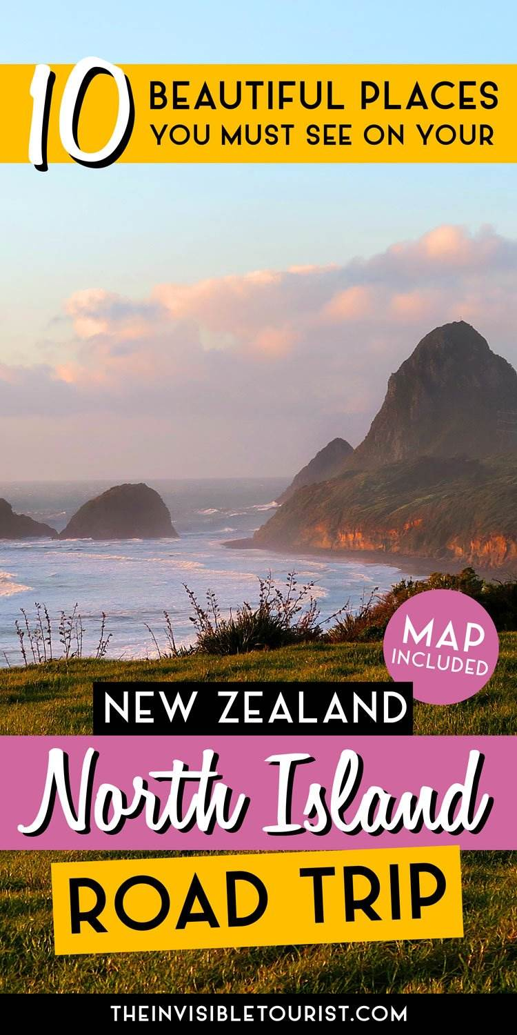 New Zealand Sightseeing Map.Beautiful Places You Must See On Your North Island Road Trip The