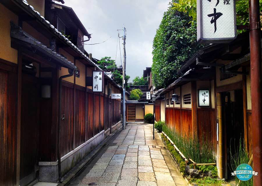 Backstreets of Gion, a few moments' walk from Hana Hotel, Kyoto
