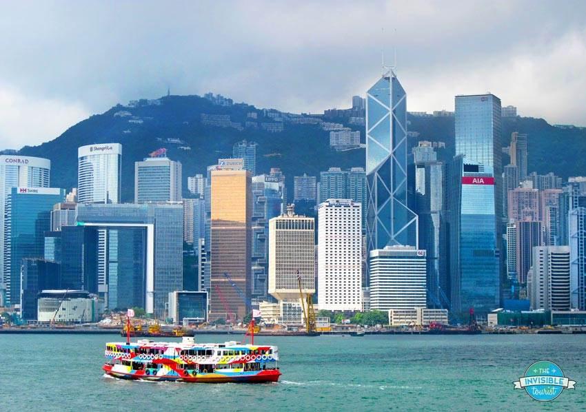 Victoria Harbour depuis Tsim Sha Tsui