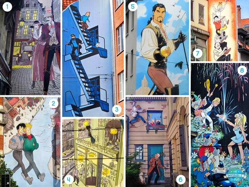 Brussels Comic Strip Walk Highlights