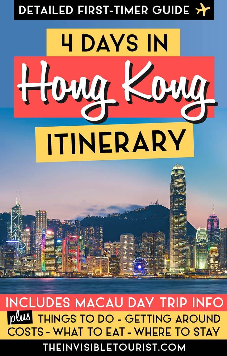 4 jours à Hong Kong: itinéraire complet + excursion d'une journée à Macao • The Invisible Tourist #hongkong #macau #itinerary #daytrip #travel #placestosee #invisibletourism #hongkongmacau