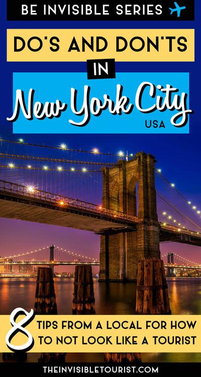 Comment ne pas ressembler à un touriste à New York | Le touriste invisible