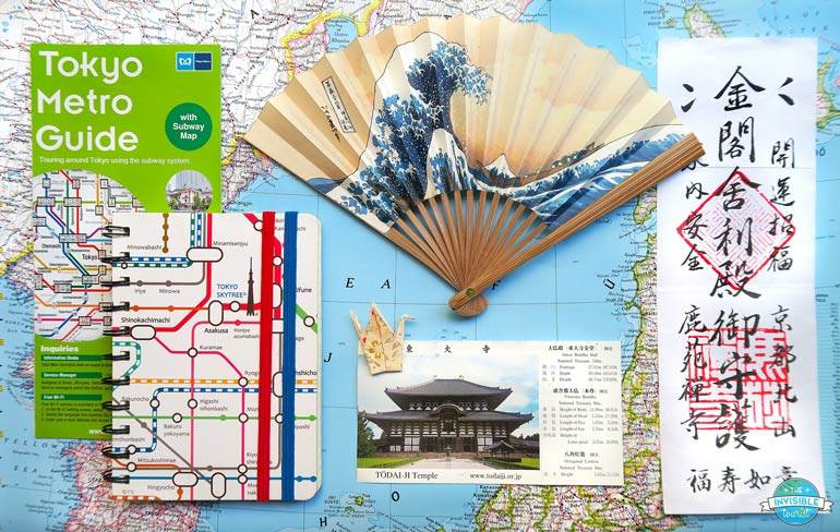 Types of paper souvenirs from Japan
