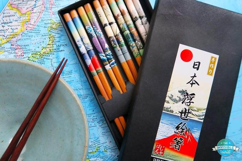 Colourful chopsticks from Hakone
