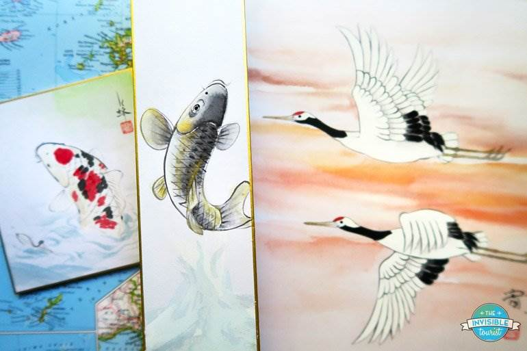 Stunning watercolour souvenirs from Kinkaku-ji