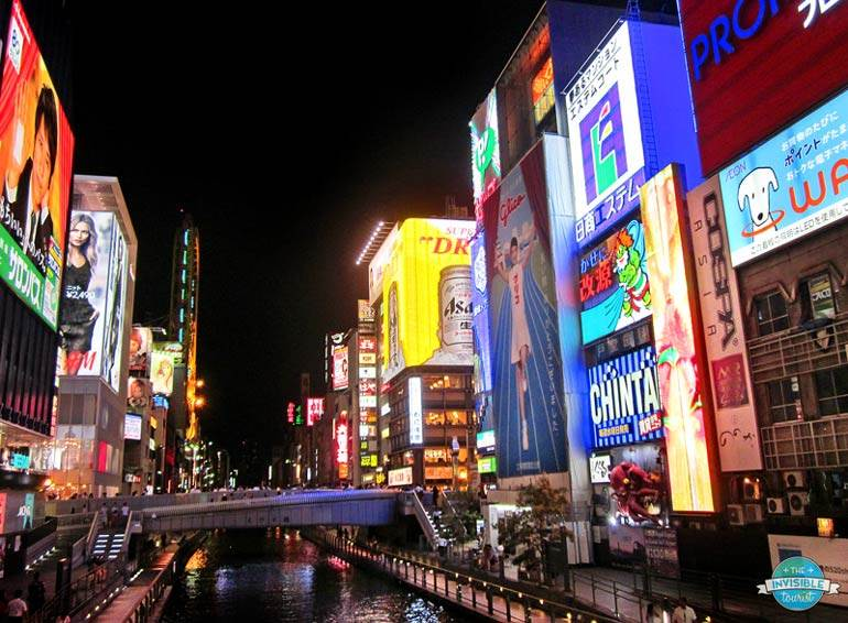 Dotonbori de nuit, Osaka, Japon | Le touriste invisible