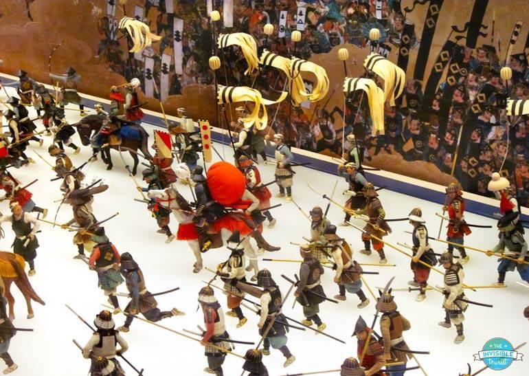 L'un des nombreux dioramas du musée du château d'Osaka
