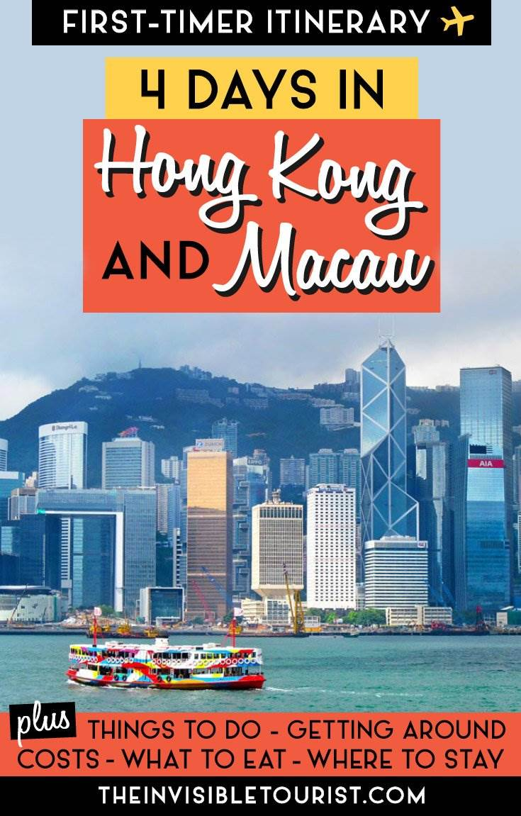 Itinéraire de 4 jours à Hong Kong: guide complet + excursion d'une journée à Macao • The Invisible Tourist #hongkong #macau #macao #hongkongitinerary #macauitinerary #macaudaytrip #daytripfromhongkong #hongkongtravel #thingstodoinhongkong #thingstodoinmacau #hongkacatatactions #hongkongattractions