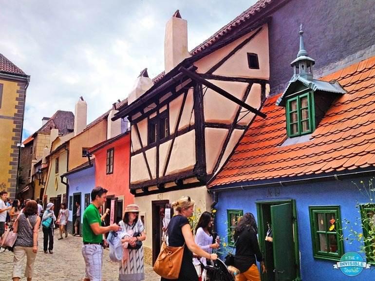 Medieval buildings along Golden Lane