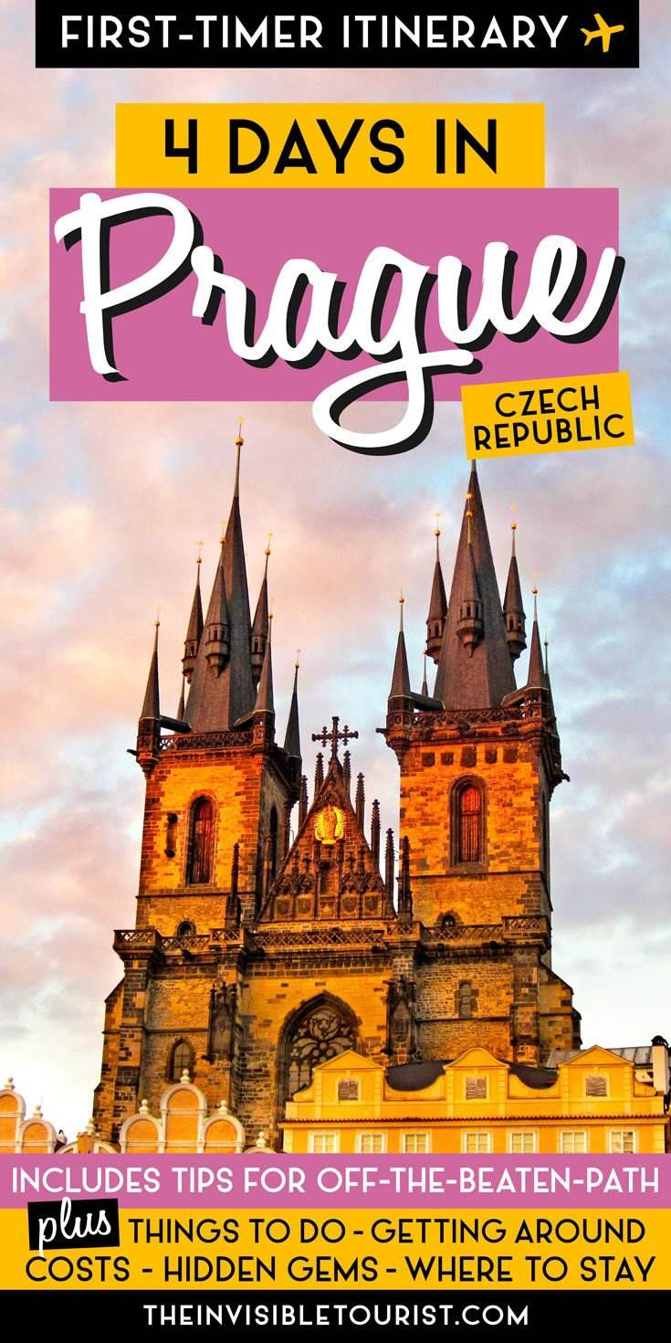 4 Days in Prague Itinerary: Complete Guide for First-Timers   The Invisible Tourist #prague #czechrepublic #czechia #pragueczechia #praguetravel #pragueitinerary #praguethingstodo #praha #hiddengems #offthebeatentrack #unesco #unescoworldheritage #europetravel #easterneurope #invisibletourism