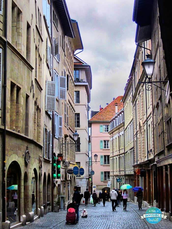 Cobbled streets in Geneva's Old Town