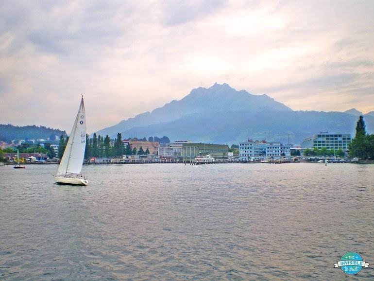 Sailing with acMt Pilatus view, Lucerne