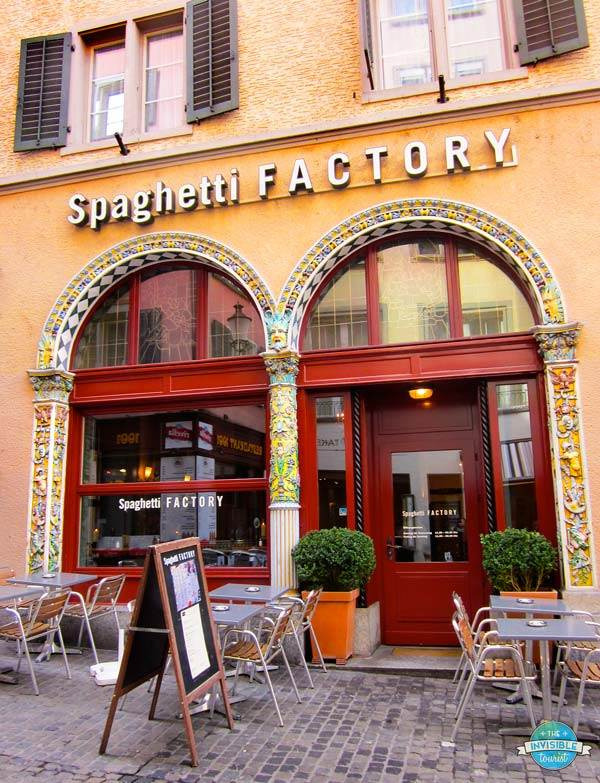 Add the Spaghetti Factory Zurich to your Switzerland itinerary