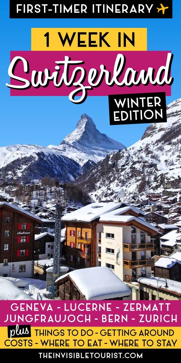 7 Days in Switzerland Itinerary: One Week in Winter Wonderland