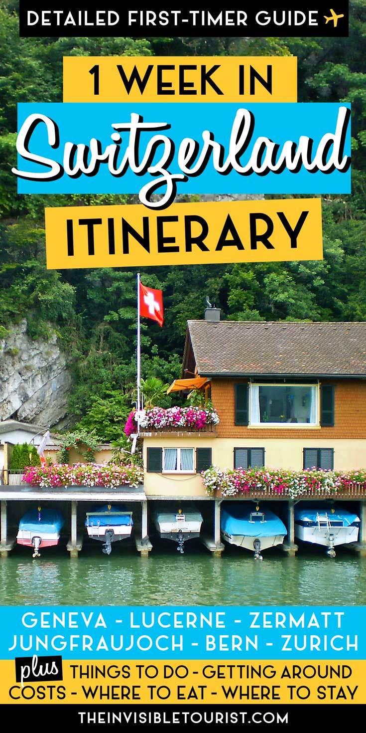 7 Days in Switzerland Itinerary: Complete Guide for First-Timers | The Invisible Tourist #switzerlandtravel #switzerlanditinerary #visitswitzerland #thingstodoinswitzerland #switzerlandguide #invisibletourism #bern #lucerne #geneva #zurich #jungfraujoch #interlaken #zermatt #swissalps