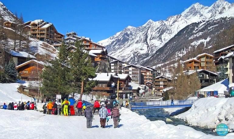 Zermatt skiers