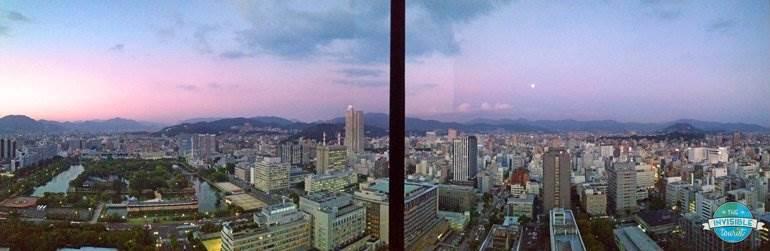 View from RIHGA Royal Hotel Hiroshima at sunset