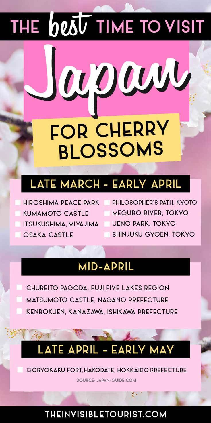 The Best Time To Visit Japan For Cherry Blossoms Revealed