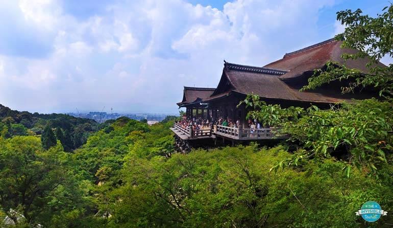 Vue large de Kiyomizu-Dera, Kyoto