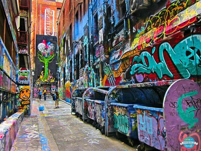 Hosier Lane est essentiel à tout itinéraire à Melbourne