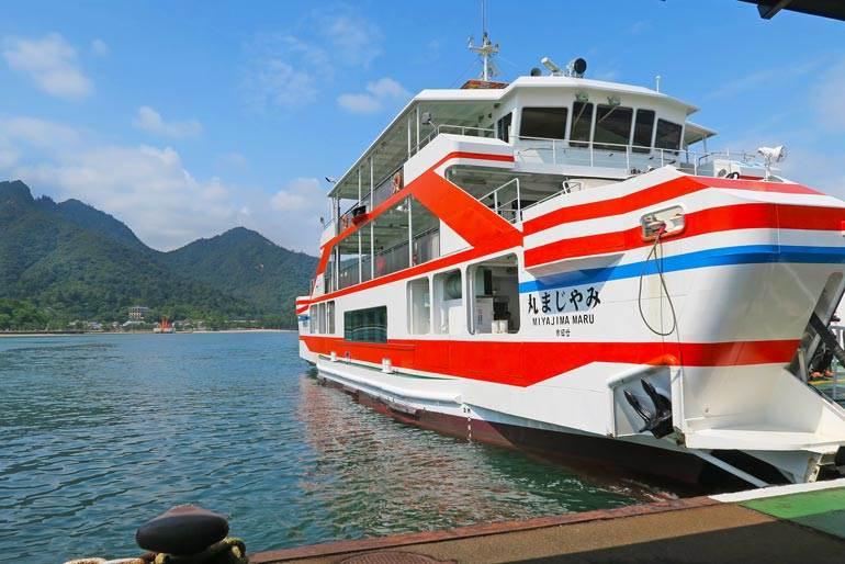 JR Ferry from Hiroshima to Miyajima, Japan