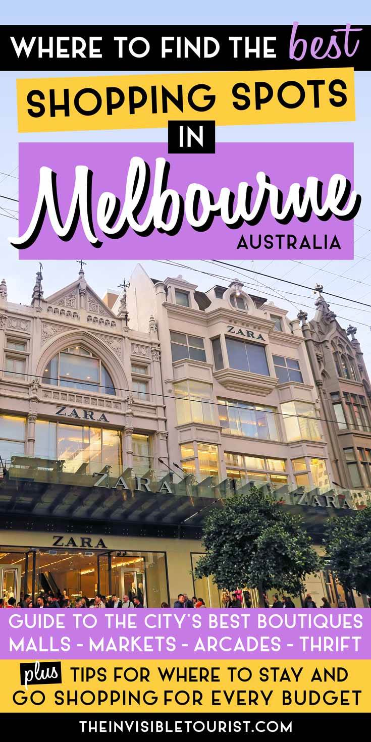Where to Go Shopping in Melbourne: Guide to the Best Malls, Outlets, Arcades & Thrift