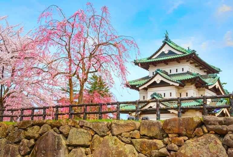 Château d'Hirosaki au Japon hors des sentiers battus