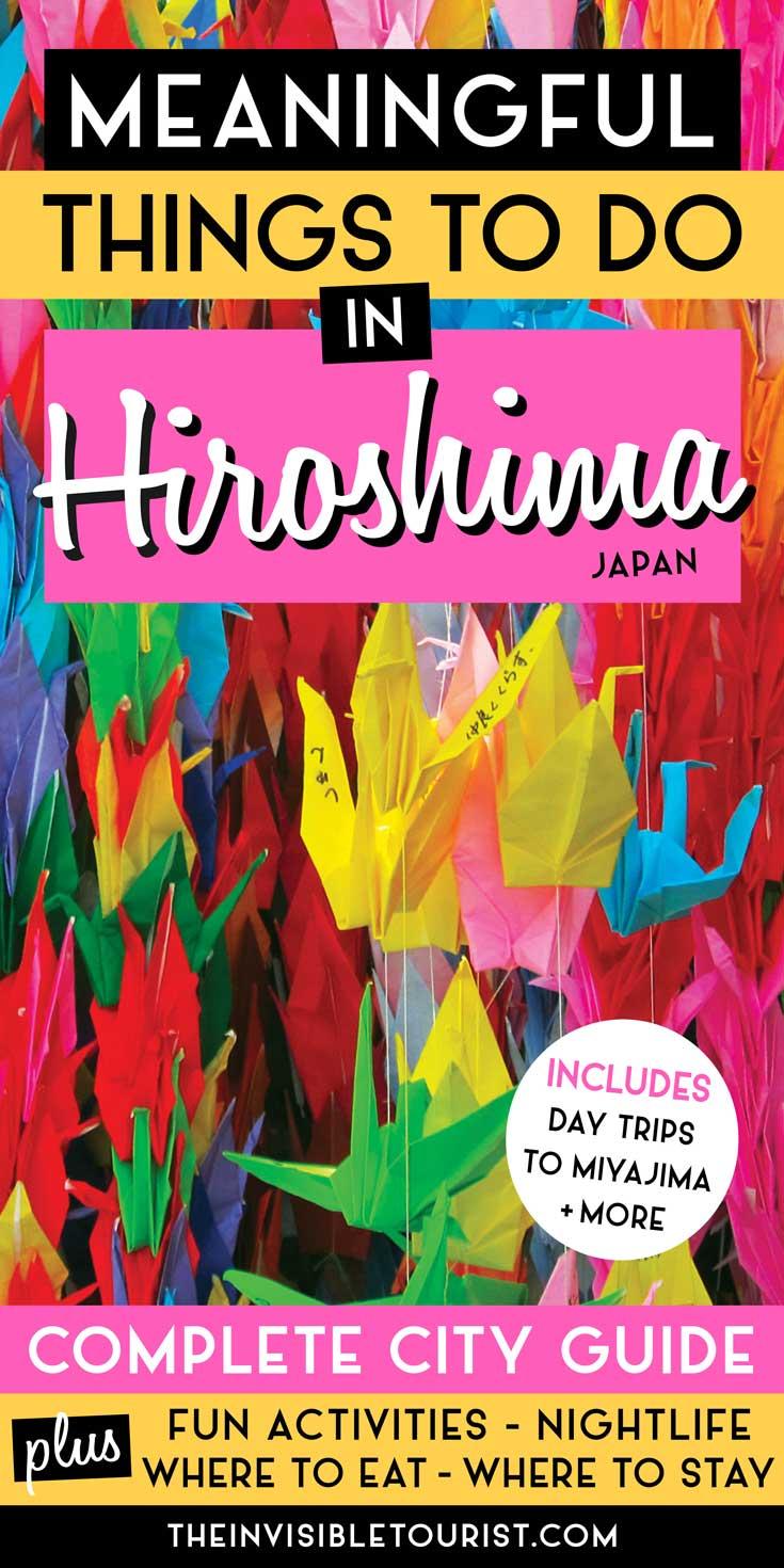 Choses intéressantes à faire à Hiroshima à ajouter à votre itinéraire | Le touriste invisible