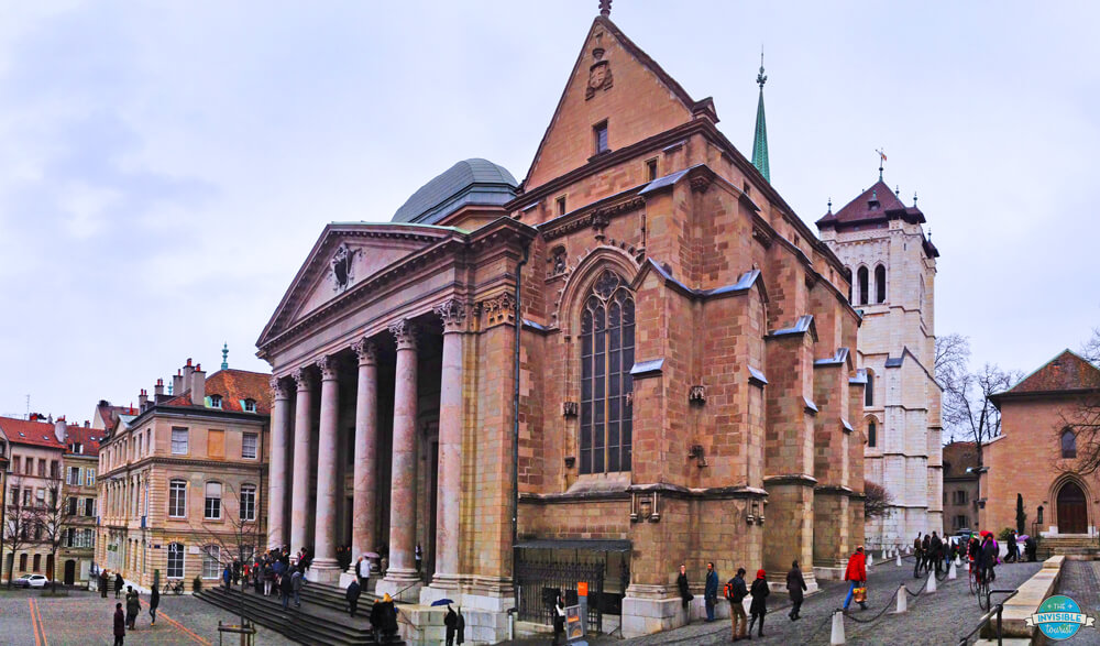 Make sure to visit St Pierre's Cathedral when spending one day in Geneva