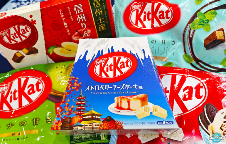 Kit Kats are popular snacks from Japan