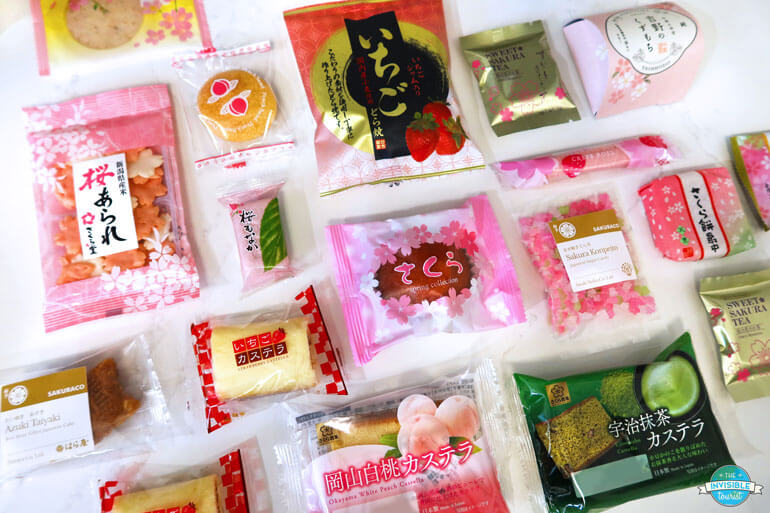 Traditional Japanese Sweets in Sakuraco Subscription Box