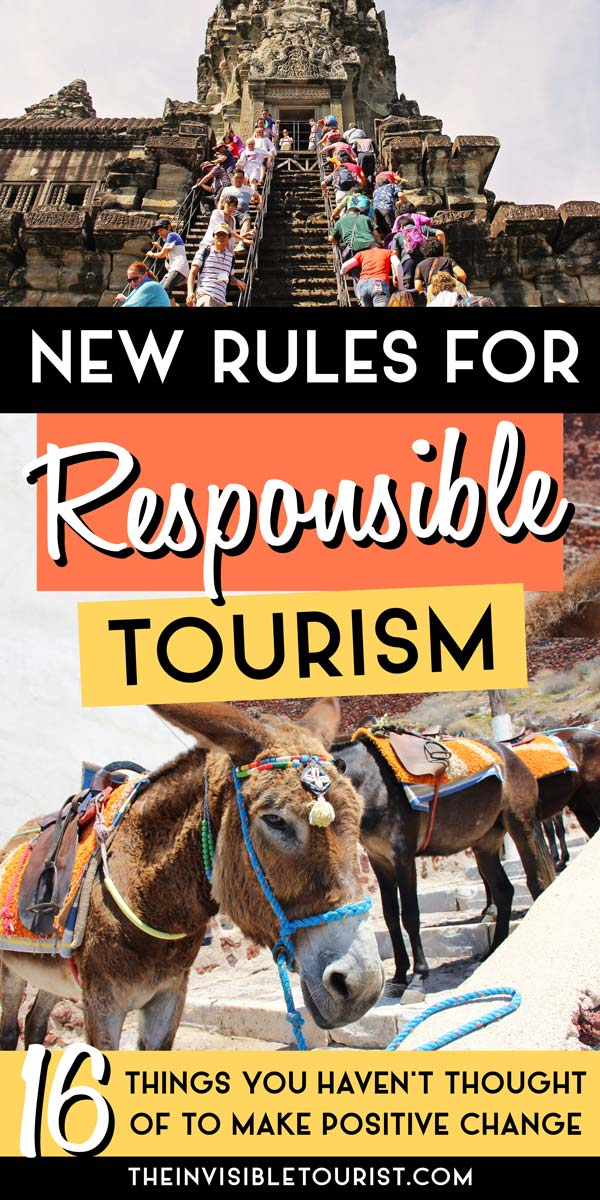 Tips You Haven't Thought Of to Travel Responsibly | The Invisible Tourist