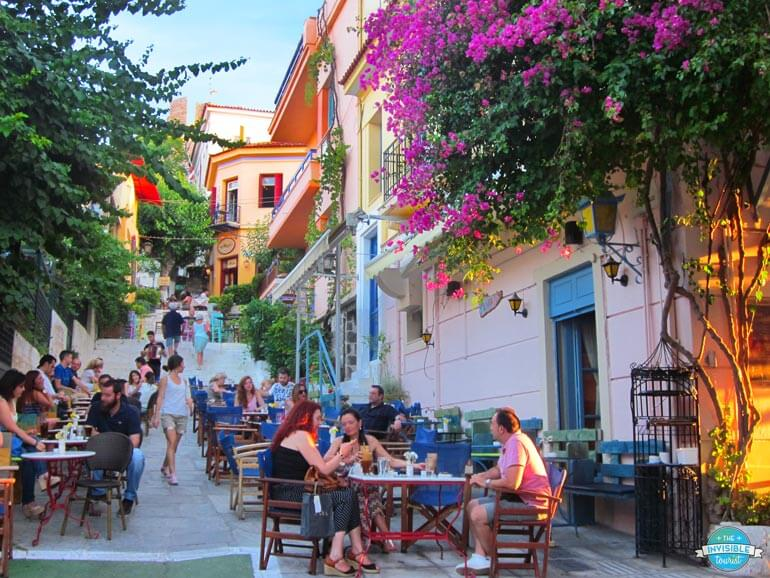 Cafe culture in Plaka, Athens